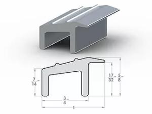 "DL Transitional Overhang ½"" to 7/16"" SpaceLinks - Aluminum Transition"
