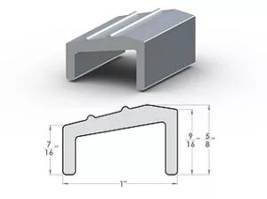 """DL PL Transitional Divider ½"""" SpaceLinks - Aluminum Transition"""