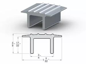 """Top Hat Divider ½"""" SpaceLinks - Aluminum Transition"""