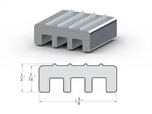 """HD Divider ½"""" x 1⅜"""" Aluminum Transition"""
