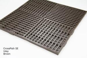 Brown CrossPath SE Heavy Duty Floor Mat Inlay