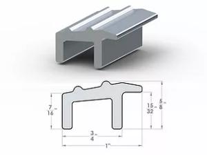 "PL Transitional Overhang ½"" to 7/16"" SpaceLinks - Aluminum Transition"