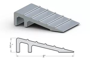 "2"" Ramp ½"" x 2"" SpaceLinks - Aluminum Transition"