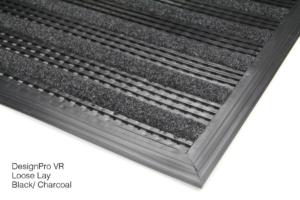 Black DesignPro Premier Low-Profile Floor Matt For Entryways