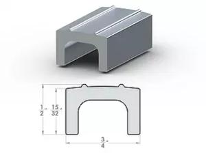 """U Divider SpaceLinks 1/2"""" Aluminum Transition"""